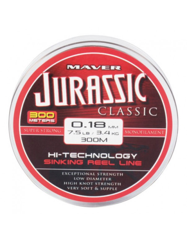 Jurassic Classic Co-Polymer 300m Line 5.9lb (0.16mm)