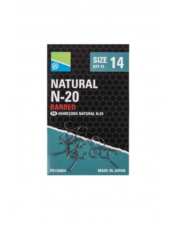 Natural N-20 Hook Size 10 Barbed