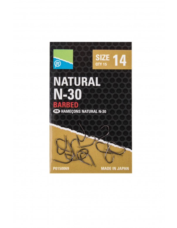 Natural N-30 Hook Size 10 Barbed