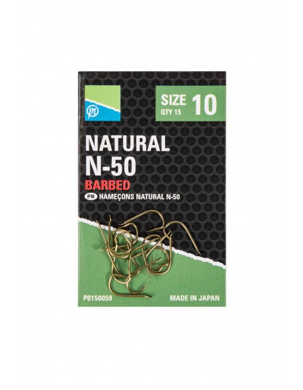 Natural N-50 Hook Size 6 Barbed