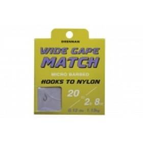 Drennan Wide Gape Match Hooks to Nylon