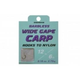 Drennan Wide Gape Carp Hooks to Nylon