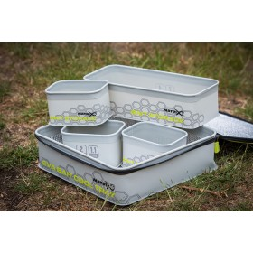 Matrix EVA Bait Cool Tray Light Grey Inc. 4 Tubs