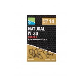 Natural N-30 Hook Size 10 Barbed