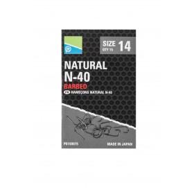 Natural N-40 Hook Size 12 Barbed